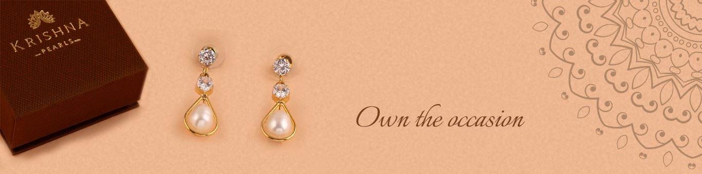 Buy Pearl Earrings Online at Krishna Pearls