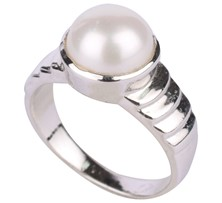 Silver ring with pearl-SR521